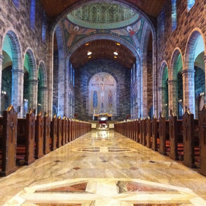 The interior of the Galway Cathedral.