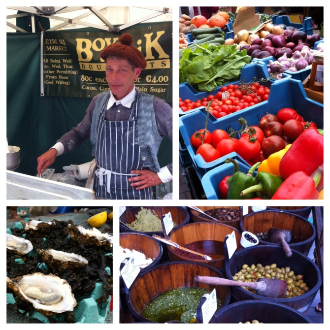 Some of the delicious foods at the Galway Market, from my friend Daniel and the delicious Boychik doughnuts to fresh vegetables and oysters caught that day.