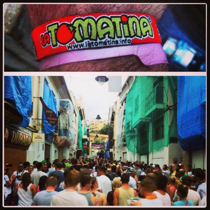 La Tomatina Festival in Spain.