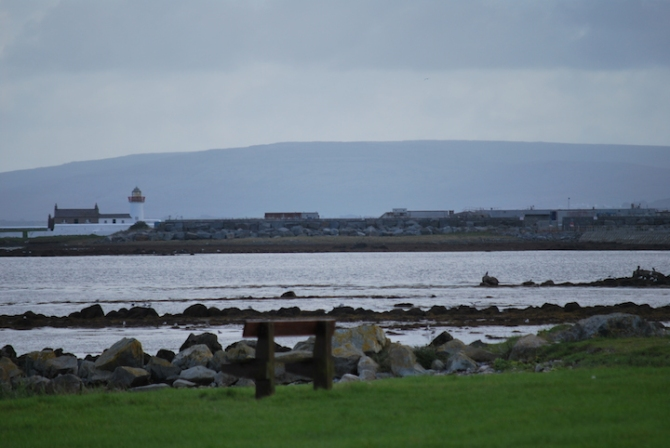 The beginning of the promenade that walks down to Salthill.